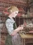 Oehlenschläger Frau schält Kartoffeln