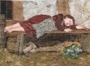 Oehlenschläger schlafendes Kind (48cm x 35cm)