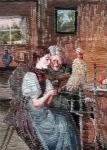 Oehlenschläger zwei Frauen (31cm x 42cm)