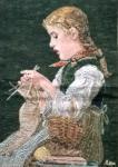 Oehlenschläger Mädchen das Handarbeitet (38cm x 54cm)