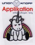 Union Knopf -Einhorn mit Regenbogen