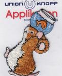 Union Knopf - Maus mit Goldfischglas