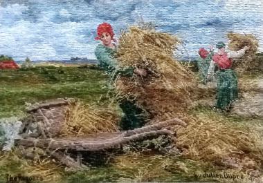 Oehlenschläger Frauen auf dem Feld (69cm x 48cm)