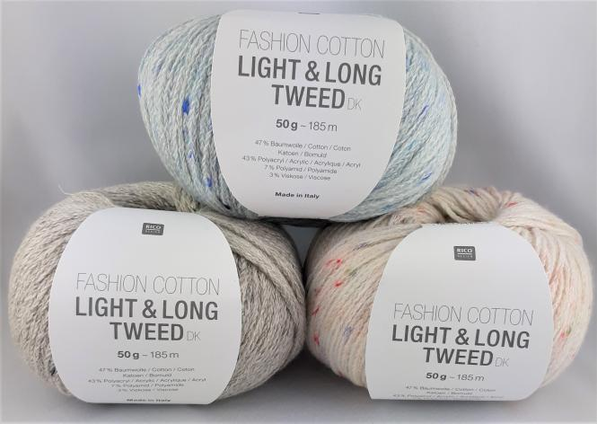 Rico - Fashion cotton light & long Tweed dk