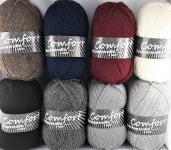 Comfort Sockenwolle uni 4-fach