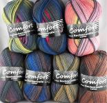 Comfort Sockenwolle color 4-fach