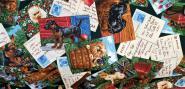 Baumwollstoff (auch für Masken geeignet) - 100% Baumwolle - Tierpostkarten